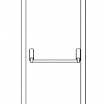 Single Fire Exit Drawing