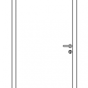 Single Steel Personnel Door Drawing