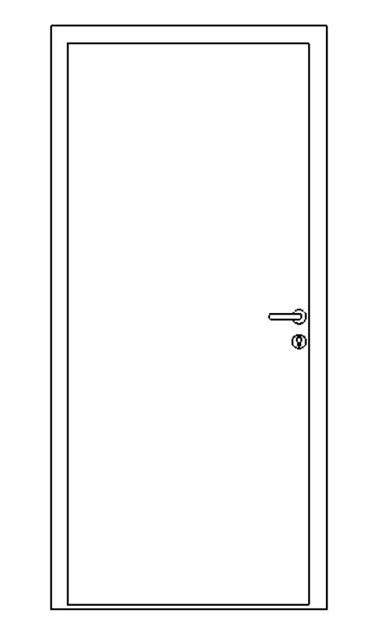 Single Steel Personnel Door Drawing